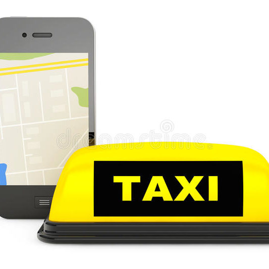 taxi-sign-mobile-phone-map-white-background-63036648